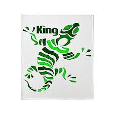The Lizard King Throw Blanket