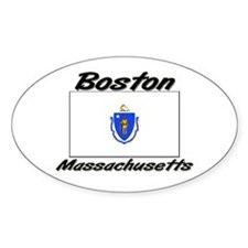 Boston Massachusetts Oval Decal