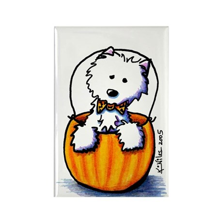 Pumpkin Prince WESTIE Rectangle Magnet (100 pack)