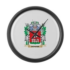 Dominik Coat of Arms (Family Cres Large Wall Clock