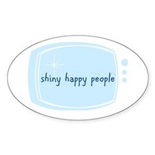 Shinny Happy People Oval Decal