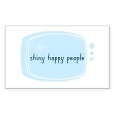 Shinny Happy People Rectangle Decal