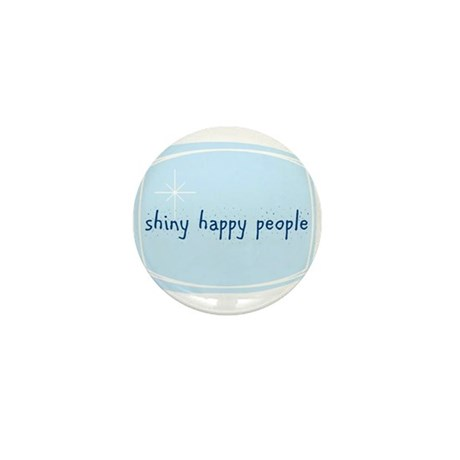 Shinny Happy People Mini Button
