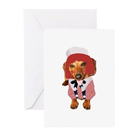 Raggedy Andy Dachshund Greeting Cards (Pk of 10)