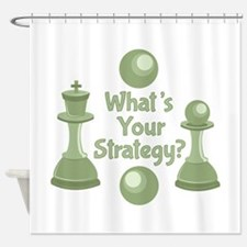 Whats Strategy Shower Curtain