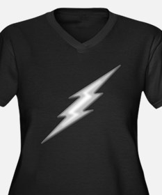 Lightning Bolt Chrome Women's Plus Size V-Neck Dar