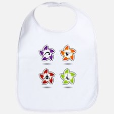 yoga and meditation symbols Bib