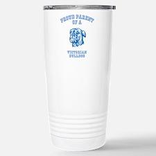 Cute Bulldog christmas Travel Mug