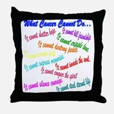 Cancer cannot Throw Pillow