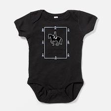 Cute Dressage horses Baby Bodysuit