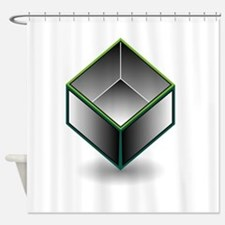Hollow cube- an enclosed space with Shower Curtain