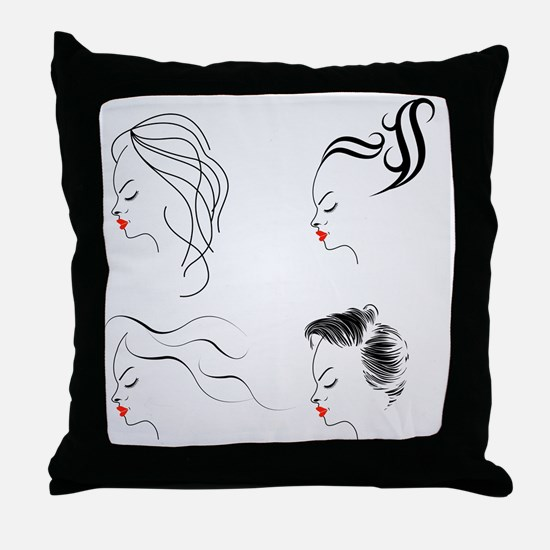 Funny Females Throw Pillow