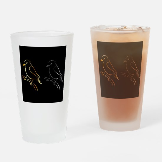 Cute Gold wing Drinking Glass