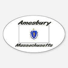 Amesbury Massachusetts Oval Decal