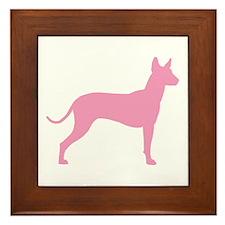 Xolo Dog Pink Profile Framed Tile