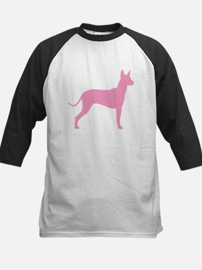 Xolo Dog Pink Profile Kids Baseball Jersey