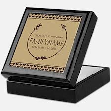 Custom Family Name Arrow Hearts Keepsake Box