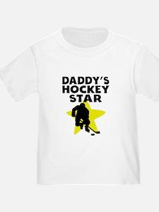 Daddys Hockey Star T-Shirt