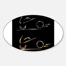 Abstract drawing of motorbike Decal