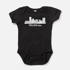 Toledo Cityscape Skyline Baby Bodysuit