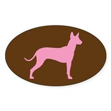 Xolo Dog Pink Profile Oval Decal