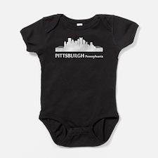 Pittsburgh Cityscape Skyline Baby Bodysuit