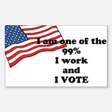 I am one of the 99% and I Vote Decal
