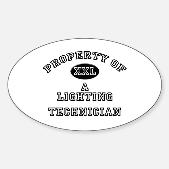 Property of a Lighting Technician Oval Decal