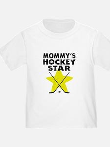 Mommys Hockey Star T-Shirt