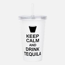 Keep Calm and Drink Te Acrylic Double-wall Tumbler