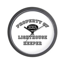 Property of a Lighthouse Keeper Wall Clock