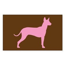 Xolo Dog Pink Profile Rectangle Decal