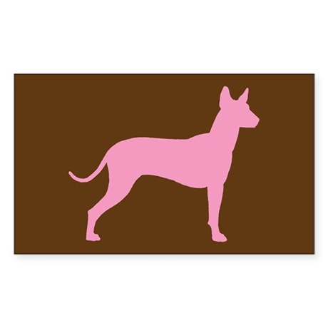 Xolo Dog Pink Profile Rectangle Sticker