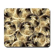 $25 Gold Liberty Mousepad