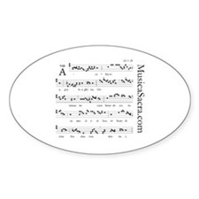 Unique Gregorian chant Decal