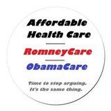 Affordable care act Round Car Magnets