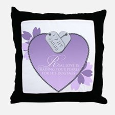Real Love - Navy Throw Pillow