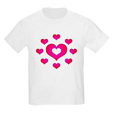 Pink Hearts Kids T-Shirt