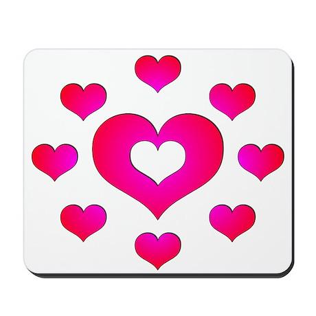 Pink Hearts Mousepad