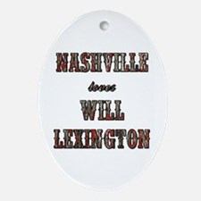 NASHVILLE LOVES... Oval Ornament
