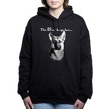 Cute Dog happy face Women's Hooded Sweatshirt