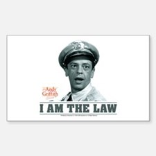 I Am The Law Decal
