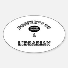 Property of a Librarian Oval Decal