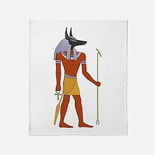 Anubis Throw Blanket