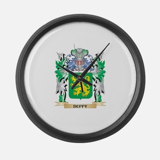 Duffy Coat of Arms (Family Crest) Large Wall Clock