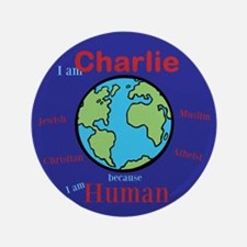 """I Am Charlie Solidarity 3.5"""" Button"""