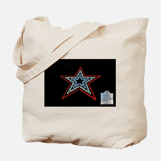 Star with Plaque Tote Bag