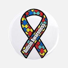 """Autism Awareness 3.5"""" Button"""
