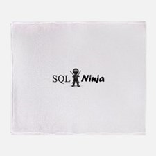 SQL Ninja Throw Blanket