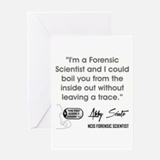 I'M A FORENSIC SCIENTIST... Greeting Cards